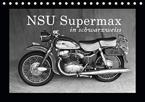 NSU Supermax in schwarzweiss (Tischkalender 2021 DIN A5 quer)