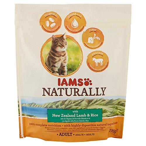 IAMS Alimento Completo per Gatti Adulti. Ricco di Agnello della Nuova Zelanda - 270 gr