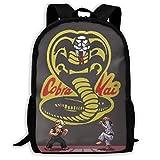 Cobra-Kai Unisex Colegio Mochila Colegiobag Mochila Zipper Daypack Multi-Function Travel...