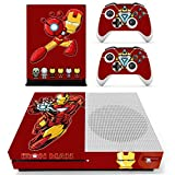 Decal Moments Xbox One S(Slim)Console Skin Set Vinyl Decal Sticker Protective for Xbox One S(Slim) Console Controllers Iron Man