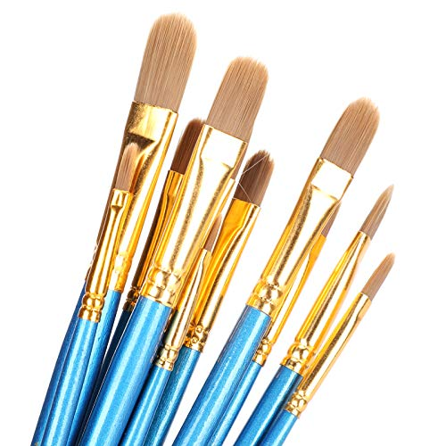 Pincéis de tinta acrílica, conjunto de pincéis de tinta acrílica 12 unidades Pincéis de pintura infantil Conjunto de pincéis para pintura a tinta