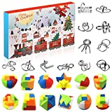 Amelia Knobelspiele Adventskalender 2020 - Metallpuzzle + Plastikpuzzle Set