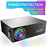 "UUO Native 1080P Projector 6000 Lux Led Projector,Support 4K HD Video 300"" Display"