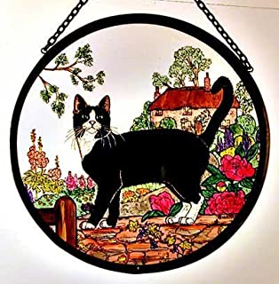 stained glass cat ornaments