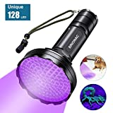 BRIONAC UV Black Light Flashlight, 128 LED 395nm Wavelength Blacklight for Pet (Cat/Dog) Urine Detection with 6AA Batteries (Not Included), Dry Stains, Scorpion and Pet Urine Detector