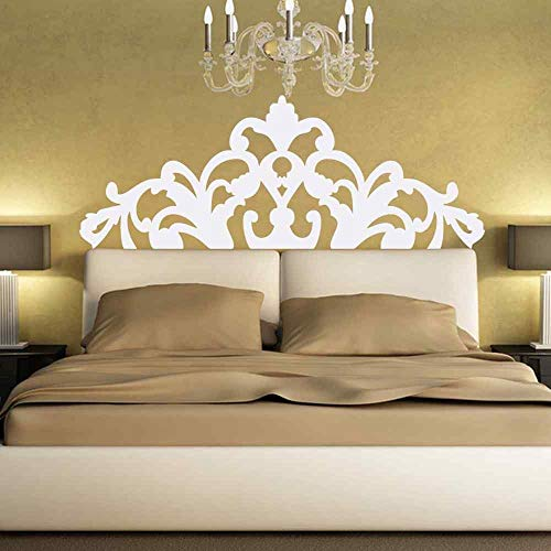 XCSJX Bett Wanddekoration Kopfteil Stil Blume Barock Wandbild Mandala Aufkleber Kunst Dekoration 57X148CM