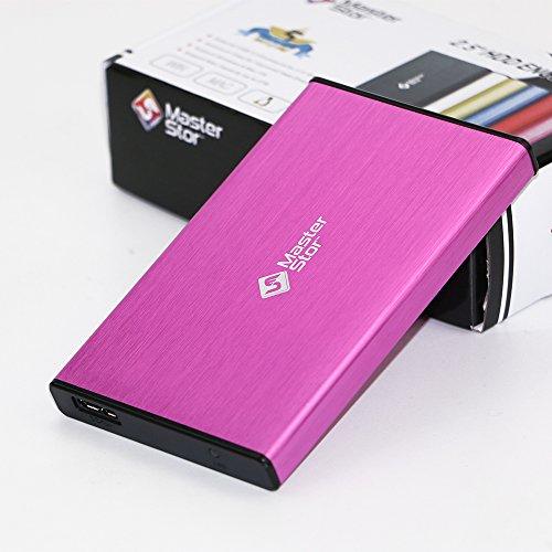MasterStor Harde Schijf 750 GB Roze 2,5 inch SATA USB 3.0 Draagbare Externe Harde Schijf Super-Fast Voor Mac Laptop En PC Harde Schijf (1 Jaar garantie)