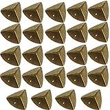 Caja Protectora Latón Vintage, Metal Protector Esquina, Forma Decorativo Cubierta Armario Mesa Maletero Muebles Patas mesa Regalo Caja Madera
