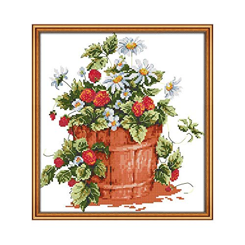 5D diamant schilderij DIY diamant borduurwerk bloempot bloem mozaïek strass kerstdecoratie