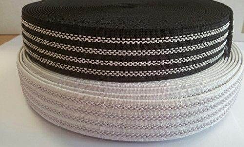 Antirutsch- Gummiband elastisch Hosenbund 25mm schwarz