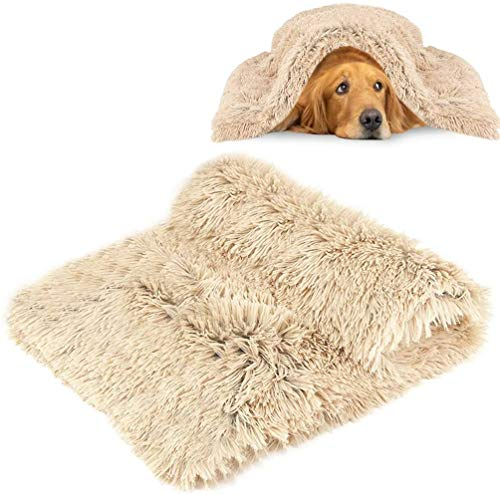Hengyuetong Flauschige Hundedecke Katzendecke Waschbare Flauschige Hundedecke Weiche warme Welpen-Haustiere-Teppich-Abdeckung für Schlafsofa Hund und Sofa Beige (Baumwolle)