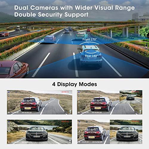 Abask Dash Cam con doppia telecamera 1080p