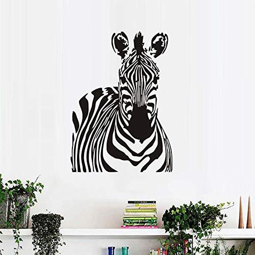 Kreative Wild Animal Home Decor Zebra Wandaufkleber Removable Vinyl DIY Wandtattoos Kunst Wandbilder Tapeten 58 cm X 80 cm