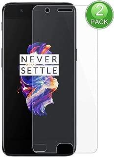 X-Dision Protector de Pantalla Compatible con OnePlus 5, [2-Piezas] 2.5D Double Defense Series Premium Protect Film, Vidrio Templado 9H, [Anti-Huella Digital y antiarañazos]