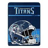 Northwest NFL Tennessee Titans 46x60 Micro Raschel Run Design Rolled Blanket, Team Colors, One Size (1NFL059050016RET)