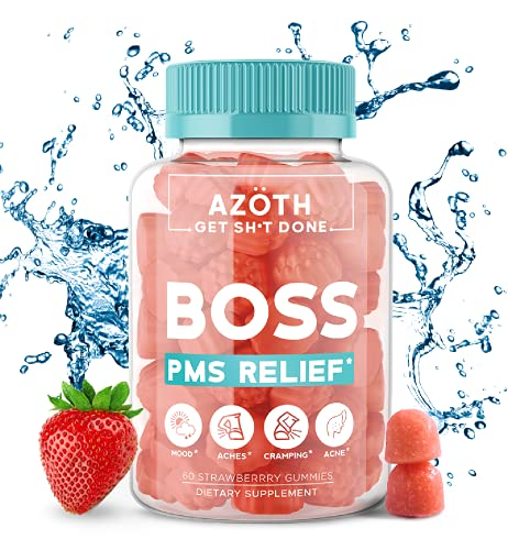 Boss Flow PMS Relief DIM Gummies - Hormone Balance for Women, Bloating Relief, Period Cramps, & Hot Flashes (DIM Supplement Women, Dong Quai - #1 Rated TIK Tok Made Me Buy It Gummies)