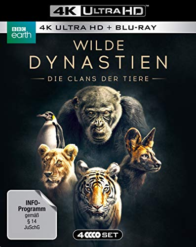 WILDE DYNASTIEN - Die Clans der Tiere (4K Ultra HD) (2 BR4K) (+2 BRs) [Blu-ray]