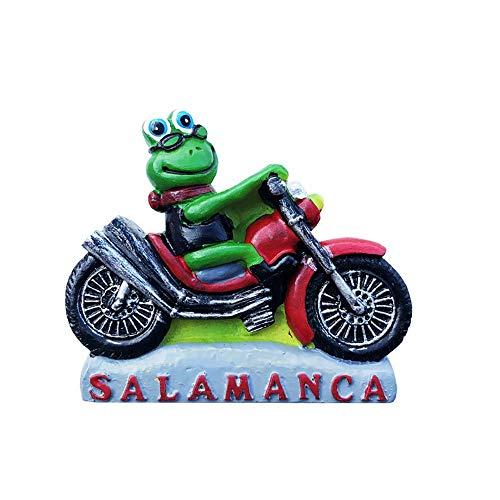 Salamanca - Imán para nevera con diseño de rana en 3D, hecho a mano, para decoración del hogar y la cocina, colección de imanes para nevera