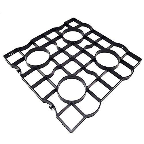 rg-vertrieb Rasengitter Rasenplatten Paddockplatten Rasenwaben Reitplatzbau Gehwegplatten 50x50x2,5 cm (80 Stück (20 m2))