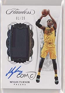 Myles Turner #1/25 (Basketball Card) 2017-18 Panini Flawless - Vertical Patch Autographs #VP-23