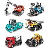 Dreamon Colorido Camiones Juguetes Set de 6 Coches Vehículos Construcciones Regalo Juegos Educativos para Niños 3 4 5 años