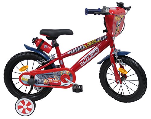 Fahrradhelm Cars 14 Zoll CARS-14-C Jungen, rot & blau, 14 Zoll