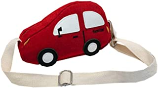 Summer Trendy Children Day Pack Cute Car Shaped Bag Wild Crossbody Bag Red