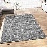 VIMODA Teppich Modern Grau Kurzflor Meliert Farbecht Pflegeleicht, Maße:120 x 170 cm