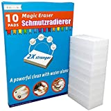 Magic Eraser Sponges 10 Erasers Premium 2X Extra Durable Scrubber & Cleaning Sponge, for Stain and Mark Removal Without The Need for Chemicals Sponge