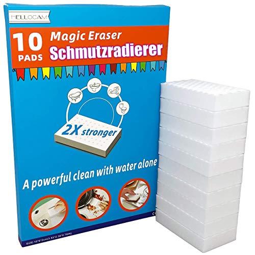 Schmutzradierer wand magic eraser schmutzradierer schwamm 10 Radierschwamm ,2X Plus Stärke reinigung einfach mit wasser,Entfernen problemlos hartnäckigen Schmutz und Flecken