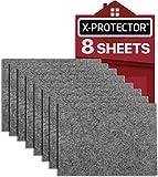 Patin feutre X-PROTECTOR - Patins meubles 8 pièces 20x16cm - Patins feutre de gris - Protection pour meubles dans votre maison -...