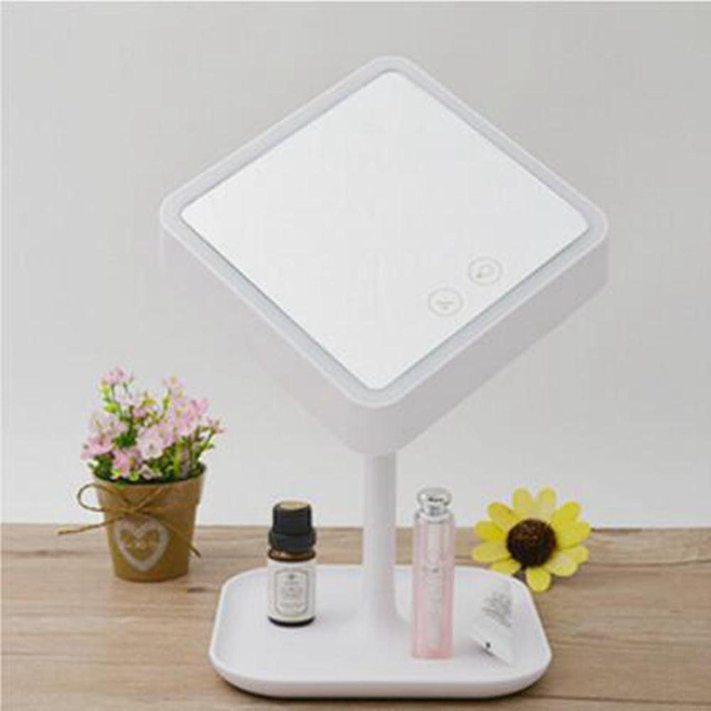 USB Lade LED Make-Up Spiegel Tischlampe Smart Storage Multifunktions Spiegel Lampe Touch Kommode Nachtlicht, Weiß