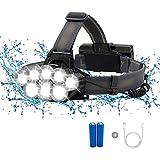 ZLUCKHY Luz Nocturna De Pesca De Luz Fuerte T6COB, 8 Faros LED Y 6 Modos De Iluminación, USB Impermeable Y Recargable, Utilizado para Acampar, Caminar, Pescar, Andar En Bicicleta Y Garaje
