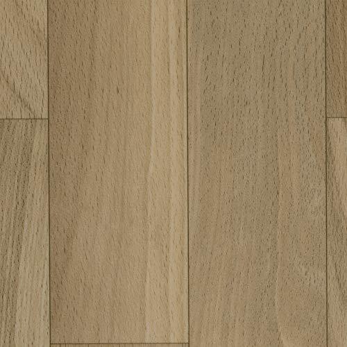 Vinylboden PVC Bodenbelag   Holzoptik Schiffsboden Eiche hell creme   400 und 500 cm Breite   Meterware   Variante: 7 x 5m