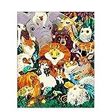 N/O Pintar por Numeros para Adultos Niños Mago de Oz DIY Pintura Digital por números Modern Wall Art Canvas Painting Gift para Niños Decoración -16x20 Pulgadas con Marco