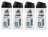 adidas adipure Duschgel für Herren 3-in-1 – Sanfte Reinigung von Körper, Haaren & Gesicht –...