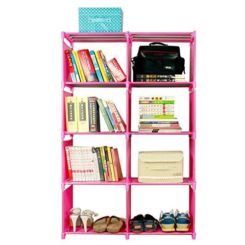 WSJTT 8 Grids Einfache Non-Woven Bookshelves Tuch-Buch-Regal Kreativ Drucken Home Decoration Kinderbücherregal Kleine Bibliothek (Color : B)