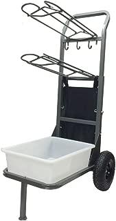 two wheeled saddle rack cart