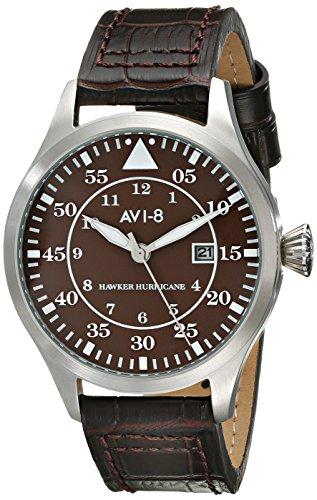 AVI-8 Reloj Hawker Hurricane AV-4012-05 para Hombre con Pantalla analógica de Cuarzo japonés marrón