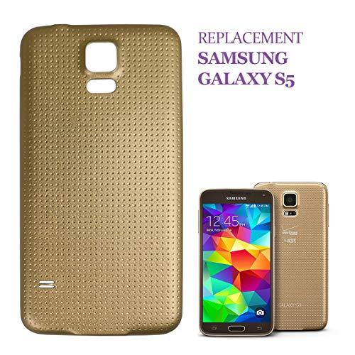 swark Tapa trasera compatible con Samsung Galaxy S5 G900F (dorada)