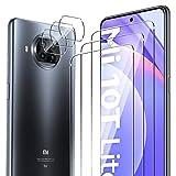 ELYCO [6 Pièces pour Xiaomi Mi 10T Lite 5G Verre Trempé + Caméra Arrière Protecteur, 9H Dureté...