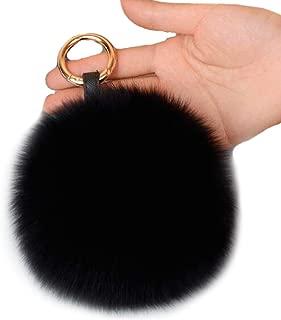 5'' Fox Fur Pom Pom Keychain Fur Ball Keychain Fluffy Fur Keychain Balls