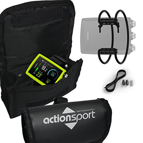 ActionSport Suunto EON Core Bundle - Tauchcomputer + Bungee Kit + ComputerBag, Farbe:gelb
