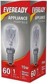 10 x Eveready 15W SES/E14 (Small Edison Screw Cap) Himalayan Salt lamp Bulb -