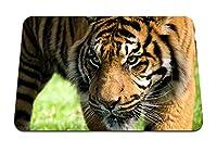 22cmx18cm マウスパッド (虎の怒り侵略ストライプアムール虎) パターンカスタムの マウスパッド