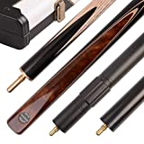 Mark Richard 3/4 Piece 57 Inches 60 Inches Handmade Snooker Cue Kit - Aluminium - Leather Case - Ash Shaft (K (57' Length, 9.5mm tip))