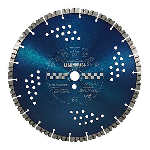 Disque à tronçonner diamant Star Max Disque diamant Diamètre 350 mm, alésage 20 mm, Turbo segments 12 mm, Le Béton, Béton armé non armé