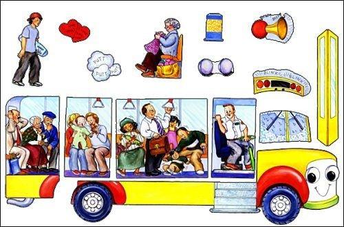 Wheels on The bus Felt Flannel Board Story Build A Bus