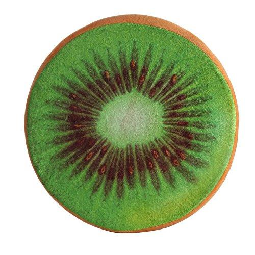Gloryhonor Citron pitaya Fruit Petite chaud mignon en peluche Canapé Coussins d'assise Chaises Home Decor, Kiwi#, Taille L
