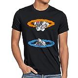 style3 Companion Cube Herren T-Shirt, Größe:L;Farbe:Schwarz